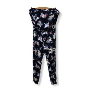 Ardene tropical print navy onesie jumpsuit small